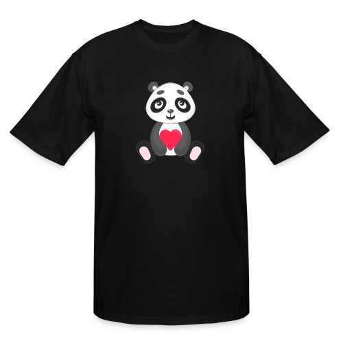 Sweetheart Panda - Men's Tall T-Shirt