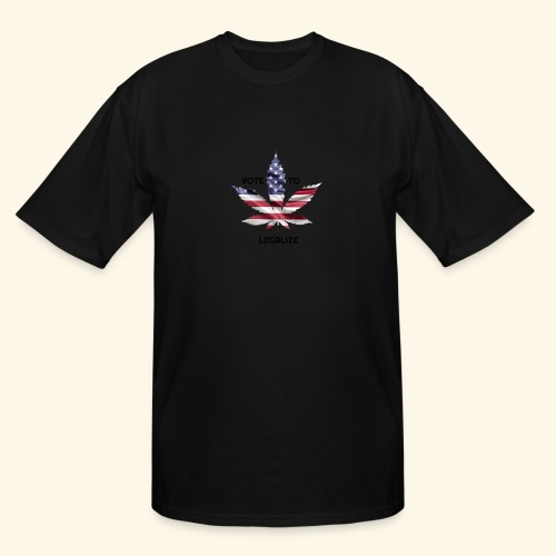 VOTE TO LEGALIZE - AMERICAN CANNABISLEAF SUPPORT - Men's Tall T-Shirt