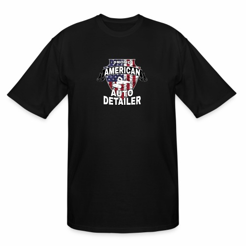 AMERICAN AUTO DETAILER SHIRT | CAR DETAILING - Men's Tall T-Shirt