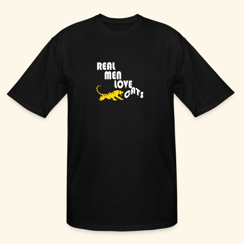 Real Men Love Cats T-Shirt for cat people tee - Men's Tall T-Shirt