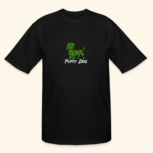 PUFFY DOG - PRESENT FOR SMOKING DOGLOVER - Men's Tall T-Shirt