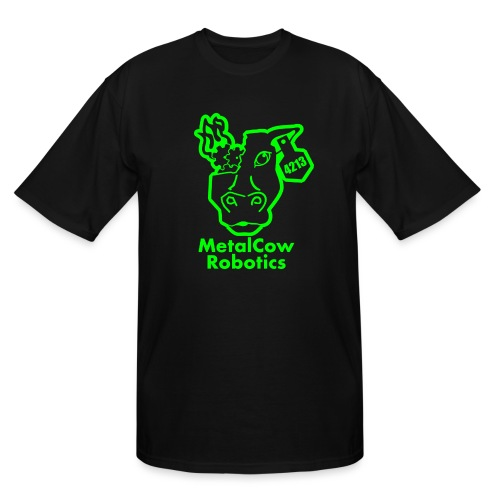 MetalCowLogo GreenOutline - Men's Tall T-Shirt