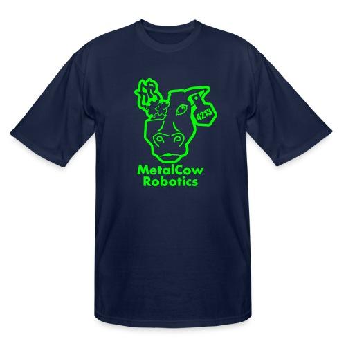 MetalCowLogo GreenOutline - Men's Tall T-Shirt