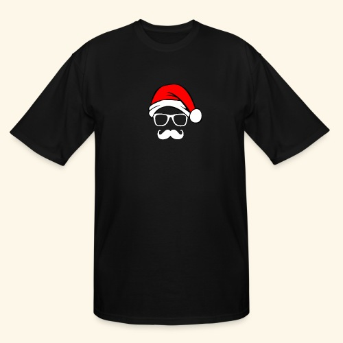 Santa with Geek and Mustache - Men's Tall T-Shirt