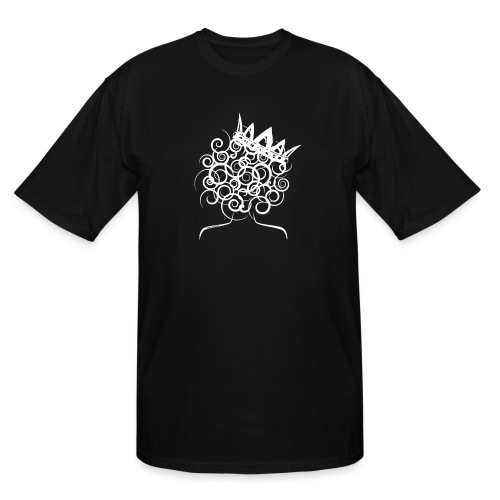 Curly Queen with Crown_ GlobalCouture Women's T-Sh - Men's Tall T-Shirt