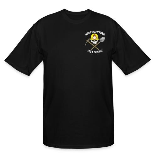 Miner Logo White Text 08 20 14 png - Men's Tall T-Shirt