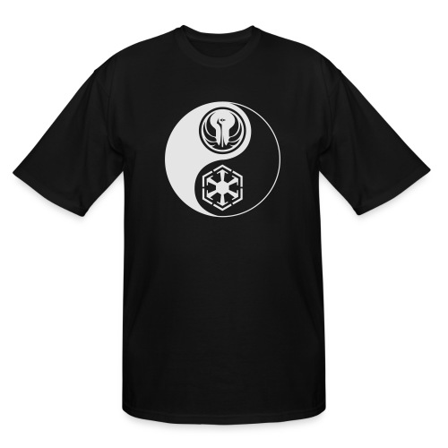 Star Wars SWTOR Yin Yang 1-Color Light - Men's Tall T-Shirt