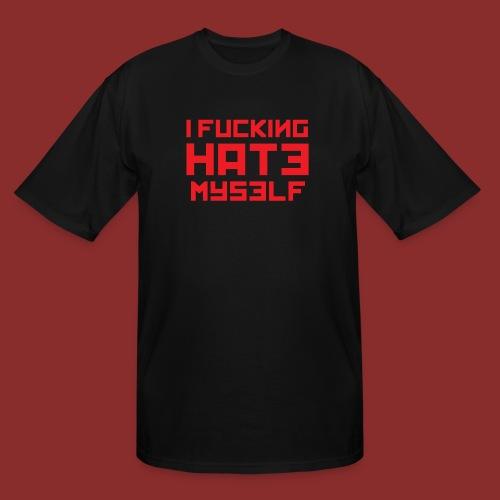 Hate Myself - Midnight N - Men's Tall T-Shirt