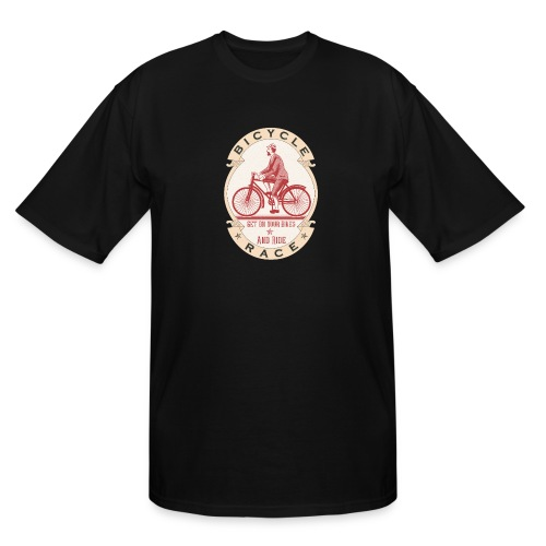 Vintage Bicycle Racer - Men's Tall T-Shirt
