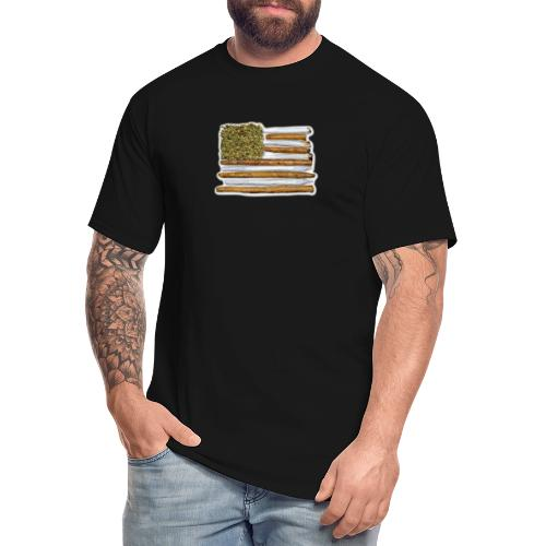 American Flag With Joint - Men's Tall T-Shirt