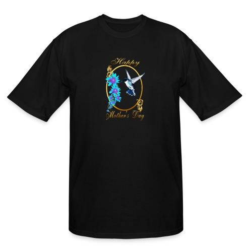Mother's Day with humming birds - Men's Tall T-Shirt