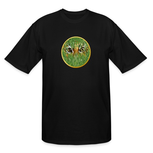 Tiger In The Grass - Men's Tall T-Shirt