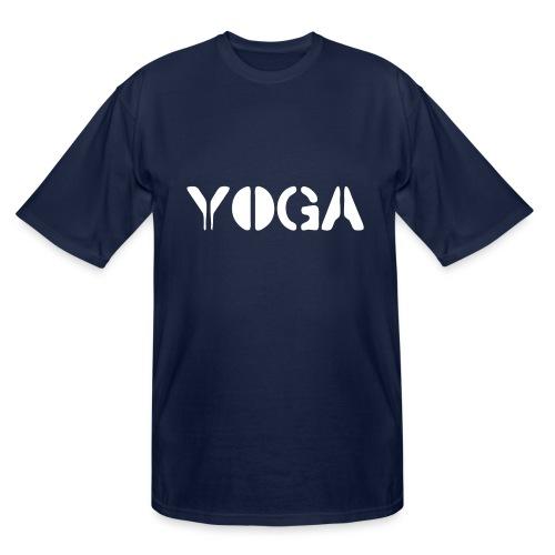 YOGA white - Men's Tall T-Shirt