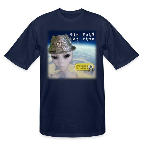 Tin Foil Hat Time (Earth) - Men's Tall T-Shirt