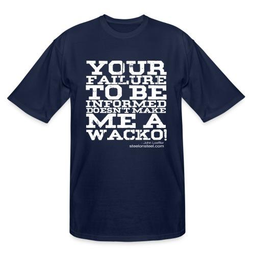 SOS Wacko White Logo - Men's Tall T-Shirt