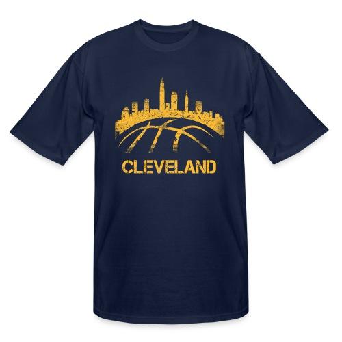 Cleveland Basketball Skyline - Men's Tall T-Shirt