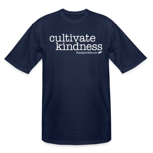 Cultivate Kindness White Logo Women's Shirt - Men's Tall T-Shirt