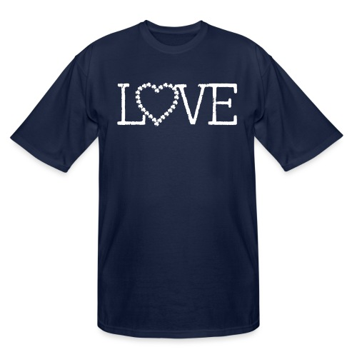 LOVE irish shamrocks - Men's Tall T-Shirt