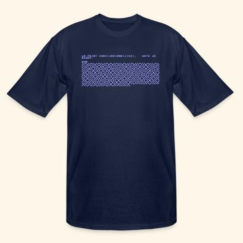 10 PRINT CHR$(205.5 RND(1)); : GOTO 10 - Men's Tall T-Shirt