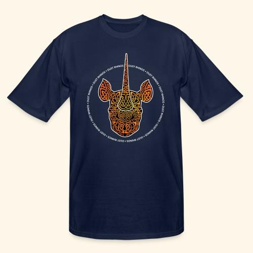 Dust Rhinos Orange Knotwork - Men's Tall T-Shirt