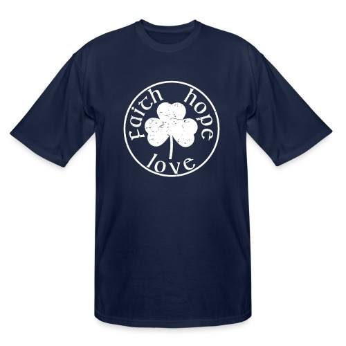 Irish Shamrock Faith Hope Love - Men's Tall T-Shirt