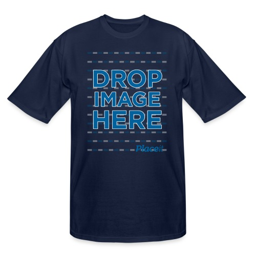 DROP IMAGE HERE - Placeit Design - Men's Tall T-Shirt