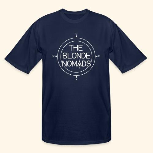 The Blonde Nomads logo WHITE - Men's Tall T-Shirt