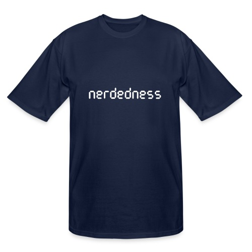 nerdedness segment text logo - Men's Tall T-Shirt