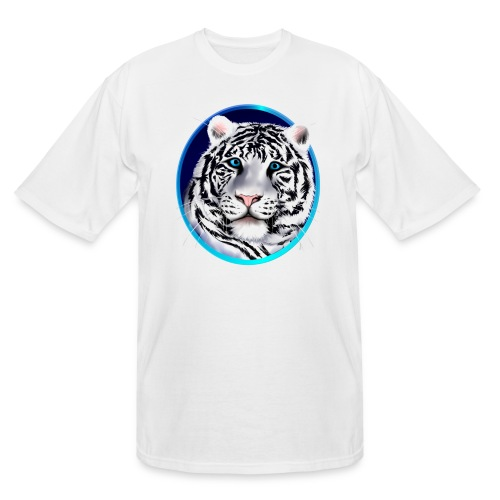Framed White Tiger Face - Men's Tall T-Shirt