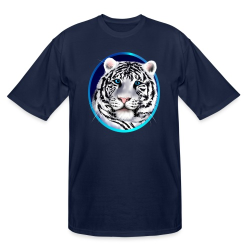 Framed White Tiger Face - Men's Tall T-Shirt