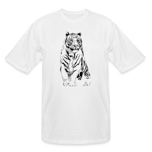 Stately White Tiger - Men's Tall T-Shirt