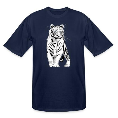 Stately White Tiger - Men's Tall T-Shirt