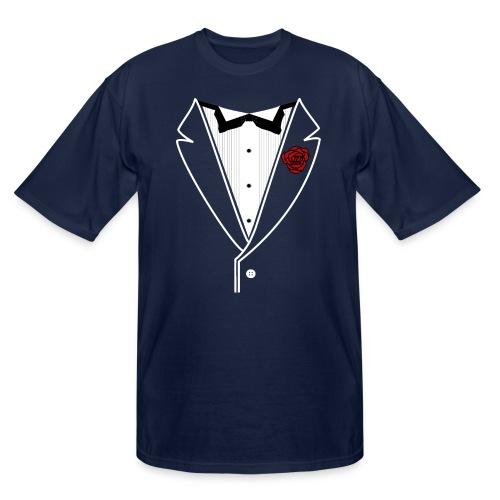 Tuxedo w/White Lapel - Men's Tall T-Shirt