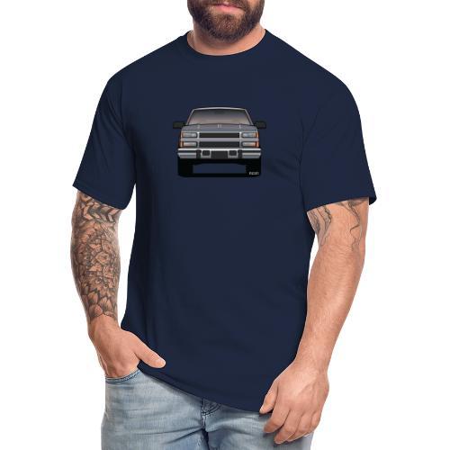 Design Icon: American Bowtie Silver Urban Truck - Men's Tall T-Shirt