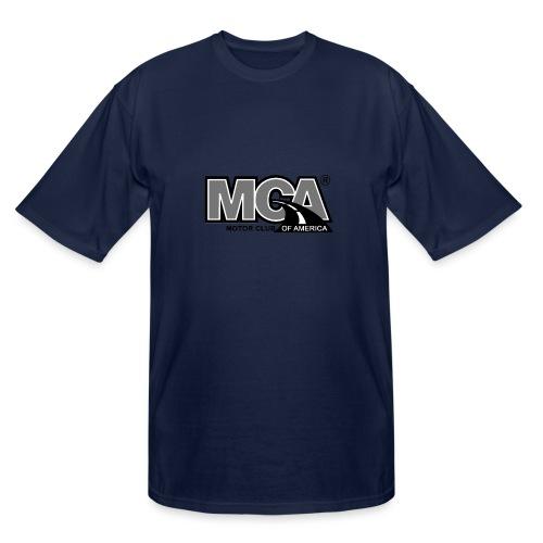 MCA Logo WBG Transparent BLACK WHITE TITLEfw fw pn - Men's Tall T-Shirt