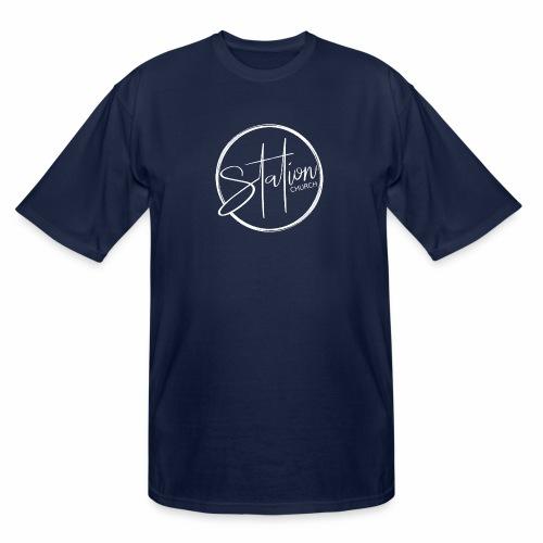 White Logo - Men's Tall T-Shirt
