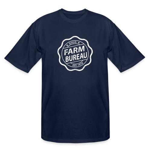White Distressed Logo - Men's Tall T-Shirt