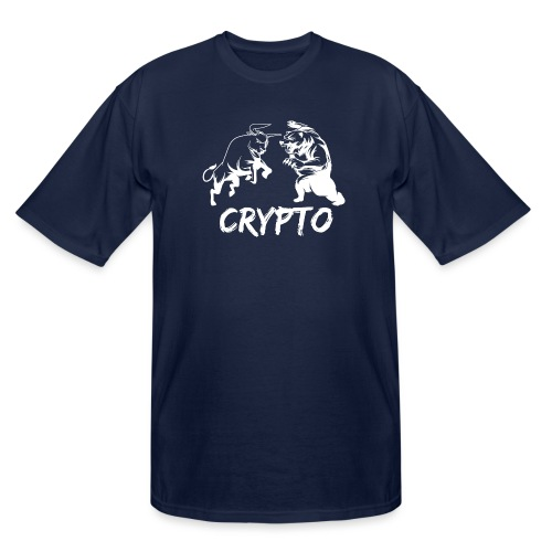 CryptoBattle White - Men's Tall T-Shirt