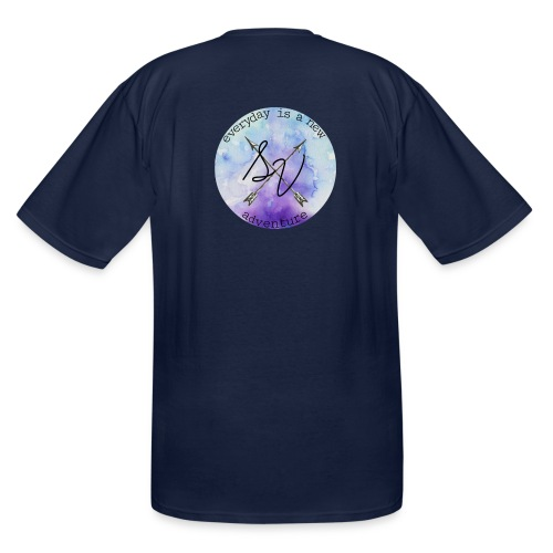 everyday is a new adventure logo - Men's Tall T-Shirt