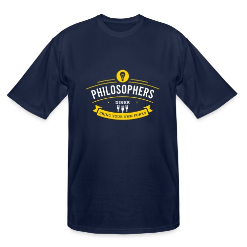Philosophers Diner - Men's Tall T-Shirt