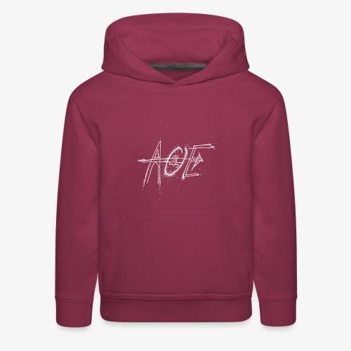 AOE Logo M1 White - Kids' Premium Hoodie