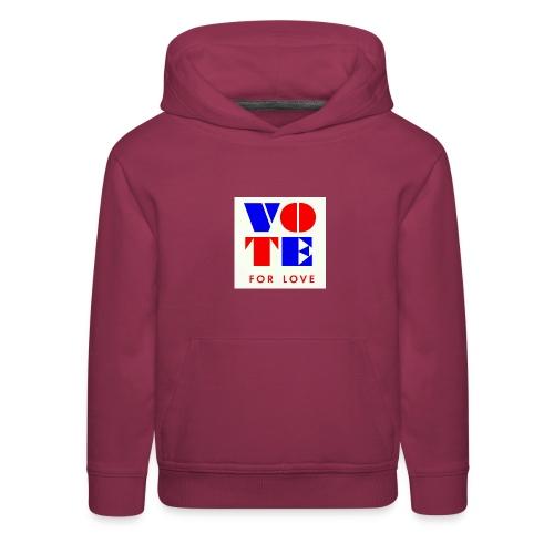 vote4love-sample - Kids' Premium Hoodie