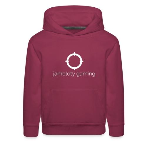 jamoloty gaming white - Kids' Premium Hoodie