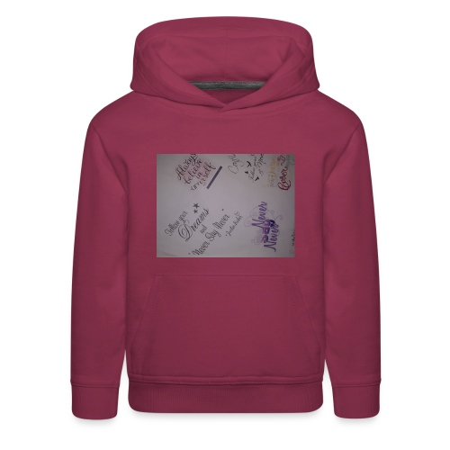 Words of courage - Kids' Premium Hoodie