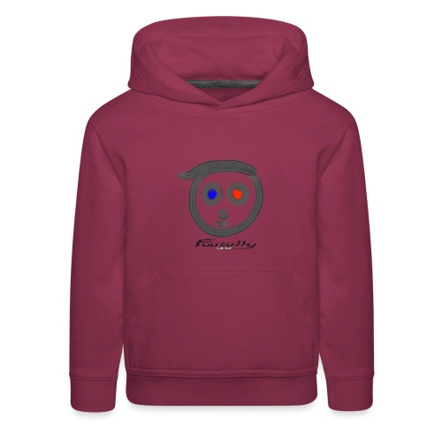 Blue, red FuuSilly - Kids' Premium Hoodie