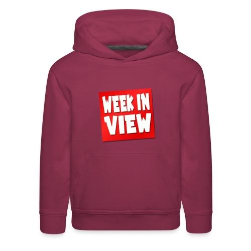 WEEK IN VIEW LOGO - Kids' Premium Hoodie
