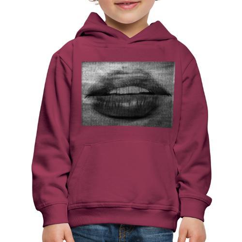 Blurry Lips - Kids' Premium Hoodie