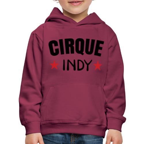 Cirque Indy - Red Stars - Kids' Premium Hoodie