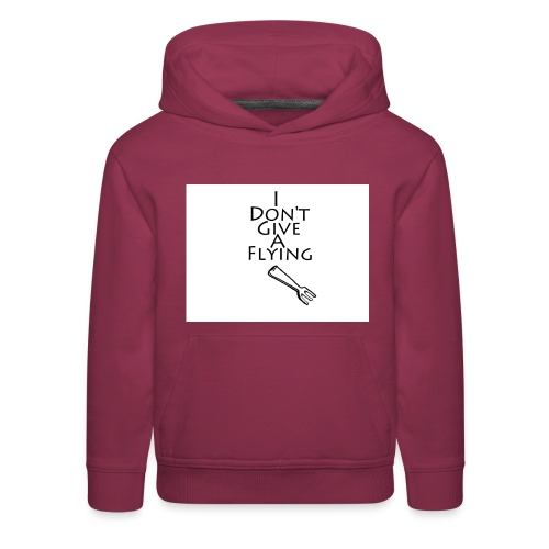 I Don't Give A Flying Fork - Kids' Premium Hoodie