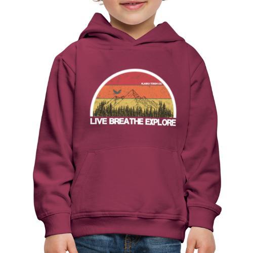 Live Breathe Explore Mountain - Kids' Premium Hoodie
